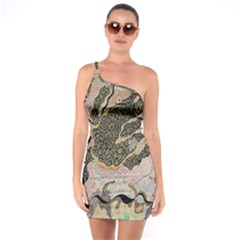 Lizard Volcano One Soulder Bodycon Dress