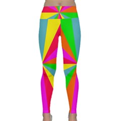 Neon Rainbow Burst Lightweight Velour Classic Yoga Leggings