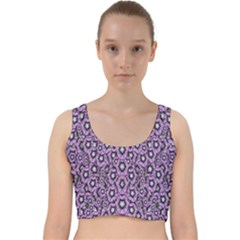 Ornate Forest Of Climbing Flowers Velvet Racer Back Crop Top