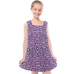 Ornate Forest Of Climbing Flowers Kids  Cross Back Dress by pepitasart