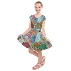 Supersonic Volcano Wizard Kids  Short Sleeve Dress by chellerayartisans
