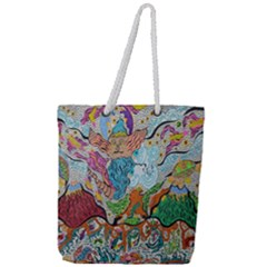 Supersonic Volcano Wizard Full Print Rope Handle Tote (large)