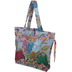 Supersonic Volcano Wizard Drawstring Tote Bag
