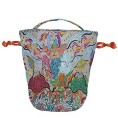 Supersonic Volcano Wizard Drawstring Bucket Bag