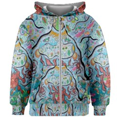Volcano Submarine Kids Zipper Hoodie Without Drawstring
