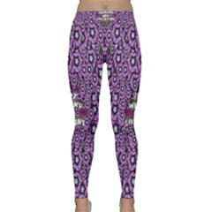 Forest Of Climbing Flowers And Life Is Fine Classic Yoga Leggings