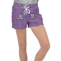 Forest Of Climbing Flowers And Life Is Fine Women s Velour Lounge Shorts
