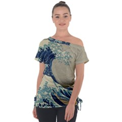 The Classic Japanese Great Wave Off Kanagawa By Hokusai Tie Up Tee
