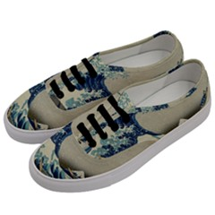 The Classic Japanese Great Wave Off Kanagawa By Hokusai Men s Classic Low Top Sneakers by PodArtist