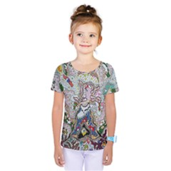 Transparent Volcano Fish Kids  One Piece Tee