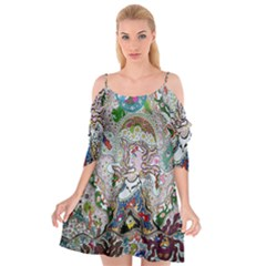Transparent Volcano Fish Cutout Spaghetti Strap Chiffon Dress by chellerayartisans