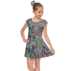 Octopusquad Kids Cap Sleeve Dress by chellerayartisans