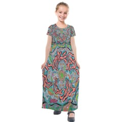 Octopusquad Kids  Short Sleeve Maxi Dress