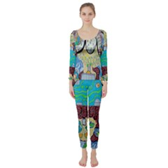 Cosmic Blue Submarine Long Sleeve Catsuit by chellerayartisans