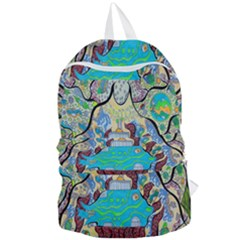 Cosmic Blue Submarine Foldable Lightweight Backpack by chellerayartisans