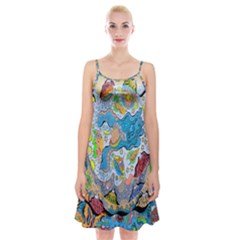 Angel Mermaids Spaghetti Strap Velvet Dress