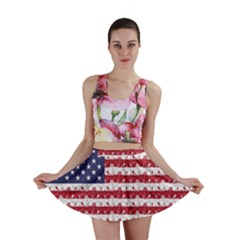 Usa Flag Halloween Holiday Nightmare Stripes Mini Skirt