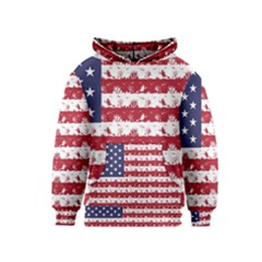 Usa Flag Halloween Holiday Nightmare Stripes Kids  Pullover Hoodie by PodArtist