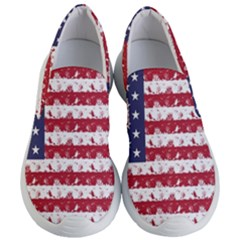 Usa Flag Halloween Holiday Nightmare Stripes Women s Lightweight Slip Ons by PodArtist