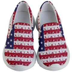Usa Flag Halloween Holiday Nightmare Stripes Kid s Lightweight Slip Ons by PodArtist