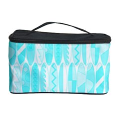 Aqua Blue Colored Waikiki Surfboards  Cosmetic Storage by PodArtist