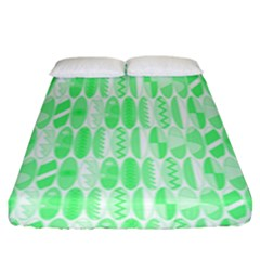 Bright Lime Green Colored Waikiki Surfboards  Fitted Sheet (king Size) by PodArtist