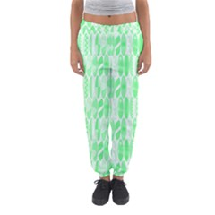 Bright Lime Green Colored Waikiki Surfboards  Women s Jogger Sweatpants by PodArtist