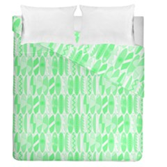 Bright Lime Green Colored Waikiki Surfboards  Duvet Cover Double Side (queen Size) by PodArtist