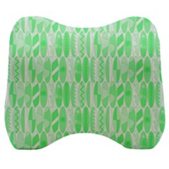 Bright Lime Green Colored Waikiki Surfboards  Velour Head Support Cushion