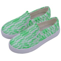 Bright Lime Green Colored Waikiki Surfboards  Kids  Canvas Slip Ons by PodArtist