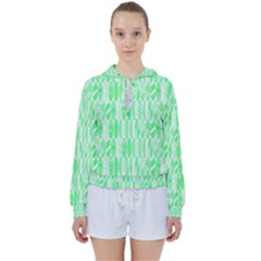 Bright Lime Green Colored Waikiki Surfboards  Women s Tie Up Sweat