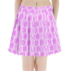 Bright Pink Colored Waikiki Surfboards  Pleated Mini Skirt