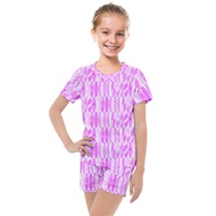 Bright Pink Colored Waikiki Surfboards  Kids  Mesh Tee And Shorts Set