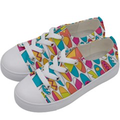 Mini Rainbow Colored Waikiki Surfboards  Kids  Low Top Canvas Sneakers by PodArtist