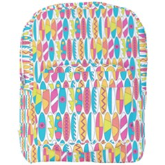 Rainbow Colored Waikiki Surfboards  Full Print Backpack by PodArtist