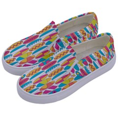 Rainbow Colored Waikiki Surfboards  Kids  Canvas Slip Ons by PodArtist