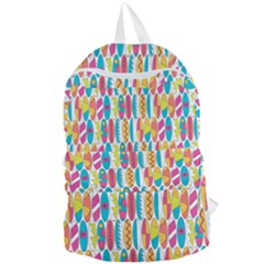 Rainbow Colored Waikiki Surfboards  Foldable Lightweight Backpack