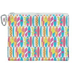 Rainbow Colored Waikiki Surfboards  Canvas Cosmetic Bag (xxl) by PodArtist