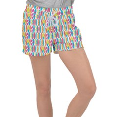 Rainbow Colored Waikiki Surfboards  Women s Velour Lounge Shorts