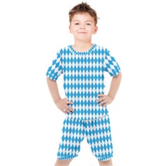 Oktoberfest Bavarian Blue And White Large Diagonal Diamond Pattern Kid s Set