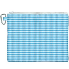 Oktoberfest Bavarian Blue And White Small Diagonal Diamond Pattern Canvas Cosmetic Bag (xxxl) by PodArtist
