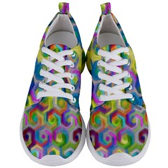 Colorful Hexagons Men s Lightweight Sports Shoes