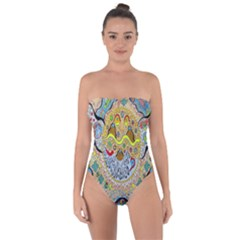 Supersonic Sun Tie Back One Piece Swimsuit by chellerayartisans