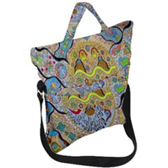 Supersonic Sun Fold Over Handle Tote Bag