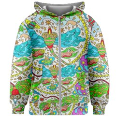 Cosmic Dragonflies Kids Zipper Hoodie Without Drawstring