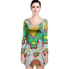 Cosmic Coocoobird Long Sleeve Velvet Bodycon Dress