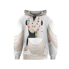 Indiahandycrfats Women Fashion White Dupatta With Multicolour Pompom All Four Sides For Girls/women Kids  Pullover Hoodie by Indianhandycrafts