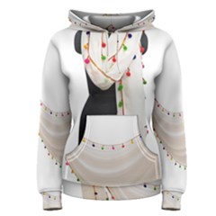Indiahandycrfats Women Fashion White Dupatta With Multicolour Pompom All Four Sides For Girls/women Women s Pullover Hoodie by Indianhandycrafts