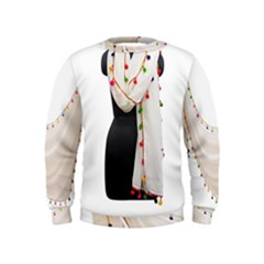 Indiahandycrfats Women Fashion White Dupatta With Multicolour Pompom All Four Sides For Girls/women Kids  Sweatshirt by Indianhandycrafts