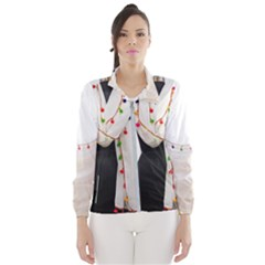 Indiahandycrfats Women Fashion White Dupatta With Multicolour Pompom All Four Sides For Girls/women Windbreaker (women)